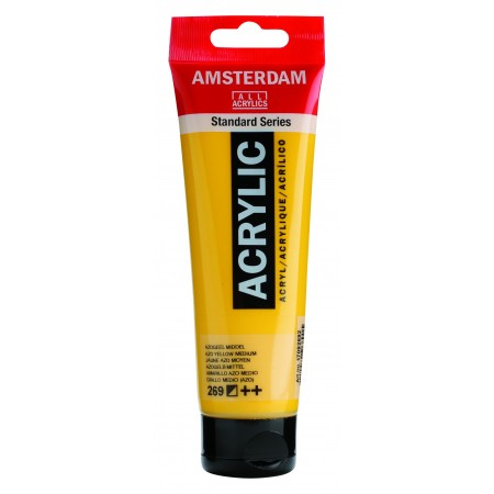 AMSTERDAM acr azo yellow med. 120 ml