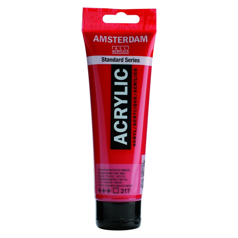AMSTERDAM acr transp. red med. 120 ml