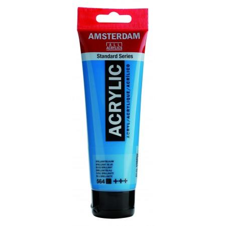 AMSTERDAM acr brill. blue 120 ml