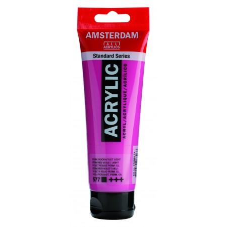 AMSTERDAM acr per.red.violet lt. 120 ml plast tuba