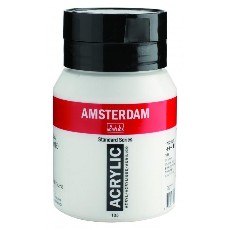 AMSTERDAM acr tit. white 500 ml