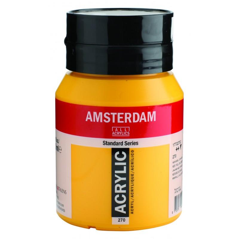 AMSTERDAM acr azo yel. deep 500 ml