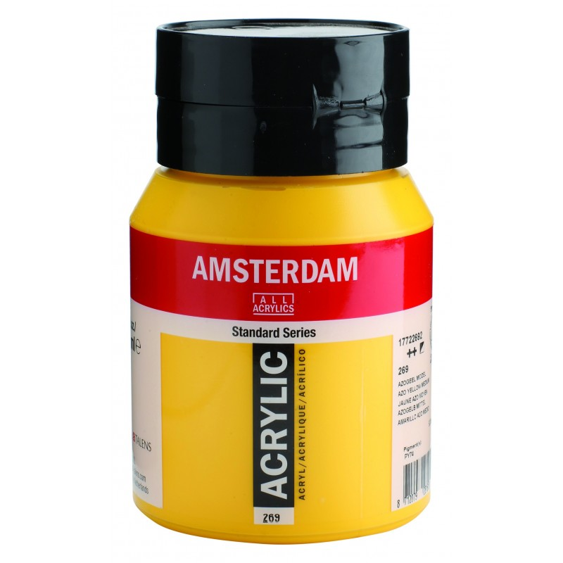 AMSTERDAM acr azo yellow med. 500 ml