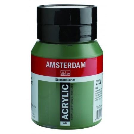 AMSTERDAM acr olive green dp. 500 ml