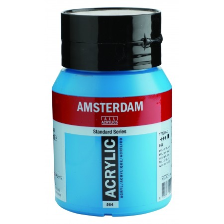 AMSTERDAM acr brill. blue 500 ml