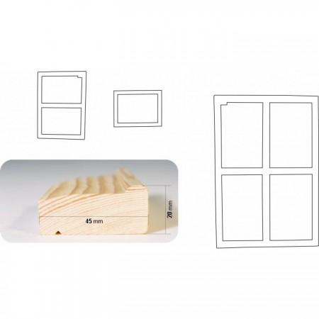 """""""4,5"""" - 50 cm obvodová lišta klínového rámu"""