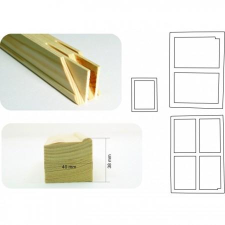 4x4 - 20 cm obvodová lišta klínového rámu