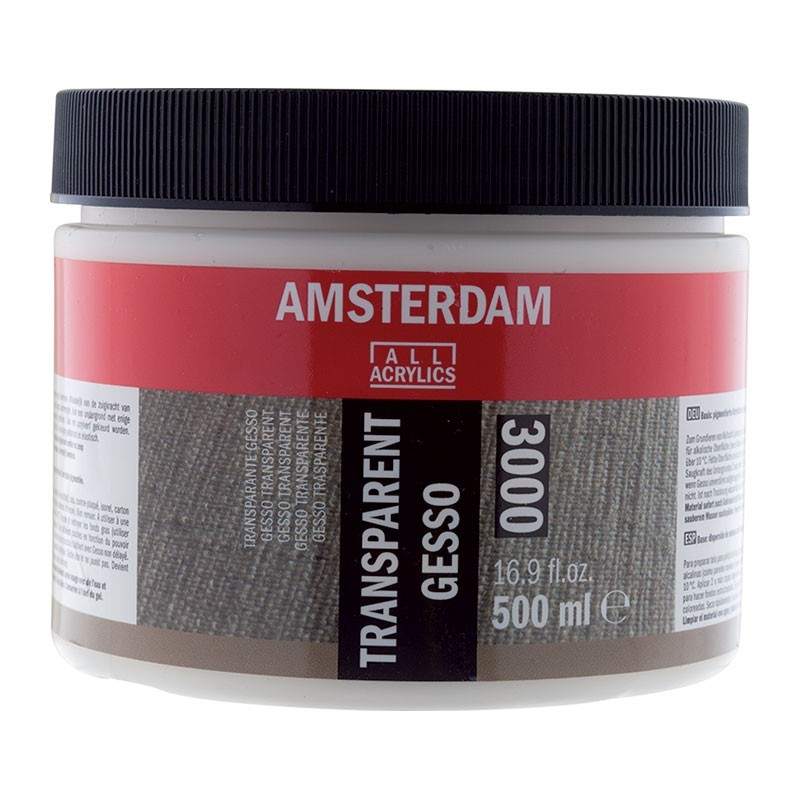AMSTERDAM Gesso Transparent - průhledné 500 ml