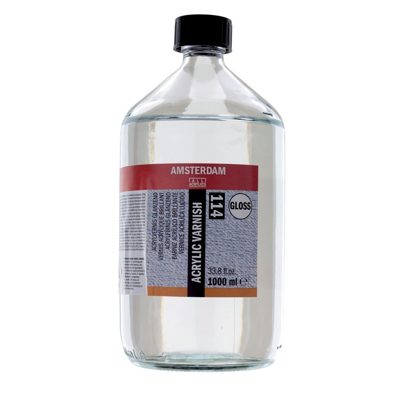 AMSTERDAM acrylic varnish - lak lesklý 1000 ml
