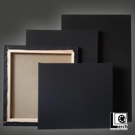 80 x 150 cm malířské plátno BAVLNA BLACK, 2x příčka